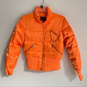 Express orange puffer/bomber jacket small